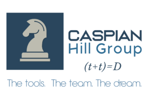 Caspian Hill Group vertical logo with tagline